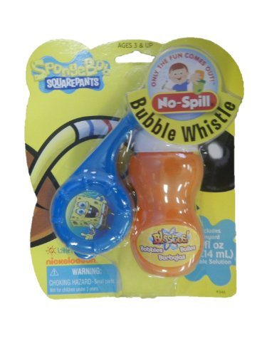 SpongeBob Squarepants No-Spill Bubble Whistle