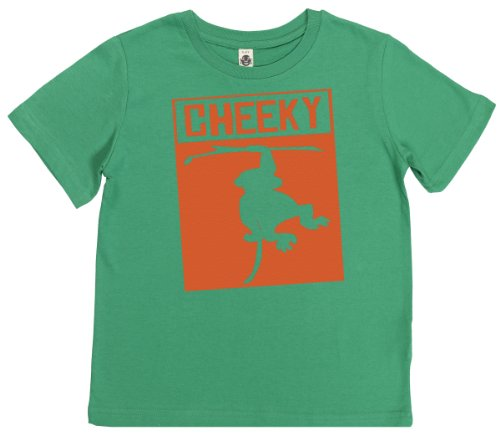 Phunky Buddha - Cheeky Monkey Toddler Top 3-4 Yrs - Green front-748431