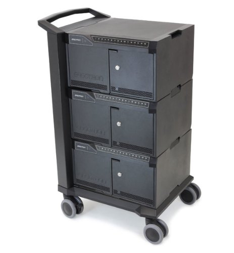 Ergotron Tablet Management Cart 48, with ISI - for iPad - 130.95 lb Capacity