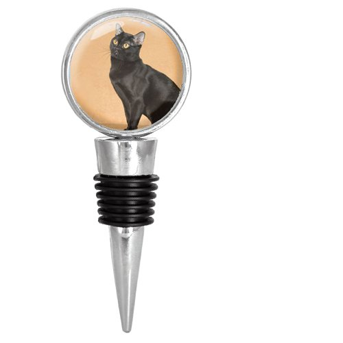 Bombay Black Cat Wine Stopper