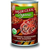 Muir Glen Organic Fire Roasted 14.5-Ounce Crushed Tomatoes Cans (Pack of 12)