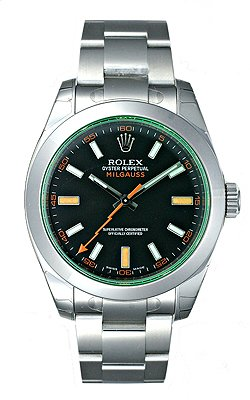 ROLEX ミルガウス 116400GV ブラック グリーンガラス[並行輸入品]