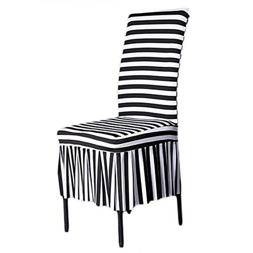 AIHOME ストライプストレッチ椅子カバーしま模様チェアカバー三つタイプ