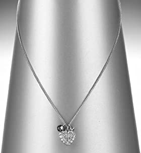 Autograph Mini Cluster Heart Pendant Necklace MADE WITH SWAROVSKI® ELEMENTS