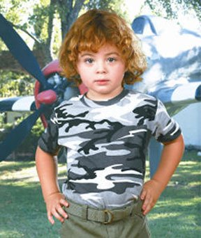 Code V Toddler Camouflage Short Sleeve Shirt
