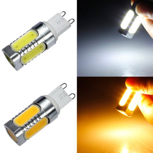 G9 7W Cob White/Warm White Aluminum Led Corn Light Bulbs 220V Option: White