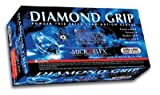 Microflex MF300M Powder Free Diamond Grip Latex Gloves Size Medium, 100 Box (MF 300M (1 Box))