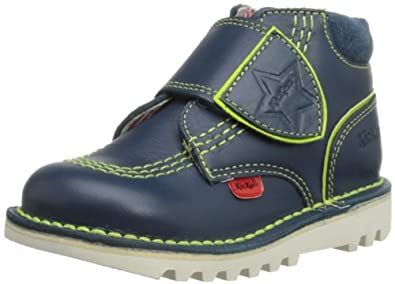 Kickers Boys Kick Hi Champ Boots 112652 Dark Blue/Green 5 UK Child, 22 EU