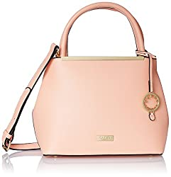 Cathy London Women's Handbag, Colour- Peach, Material- Synthetic Leather