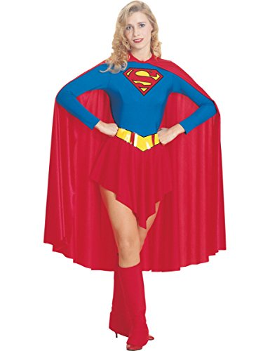 Costume Carnevale Supereroe Supergirl di Superman cartoni - sexy donna Large