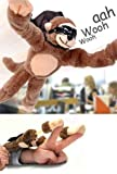 Slingshot Flying Screaming Monkey Toy Flingshot