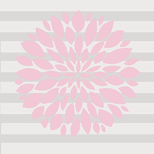 Sweet Potato Wall Decal, Light Pink Flower