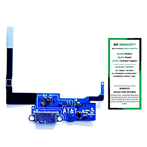 Samsung Galaxy Note 3 Replacement N900A-(AT&T) Charging Port Flex Cable Connector With Instructions - DIYMOBILITY (Galaxy Note 3 At T compare prices)