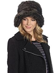 M&S Collection Faux Fur Pull On Hat
