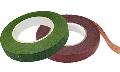 SPECIAL!!! Florist Tape self sealing, One Green Floral tape and One Brown Floral Tape,1/2