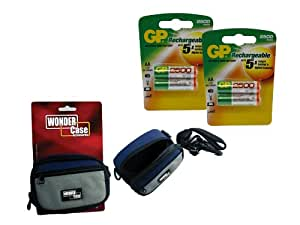 Toshiba PDR-M65 AA NiMH Rechargeable GP Battery - 4pk (2500mAh) with Wonder Case