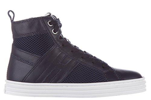Hogan Rebel scarpe sneakers bimbo bambino alte pelle nuove r 141 blu EU 29 HXC1410U770BZN2318