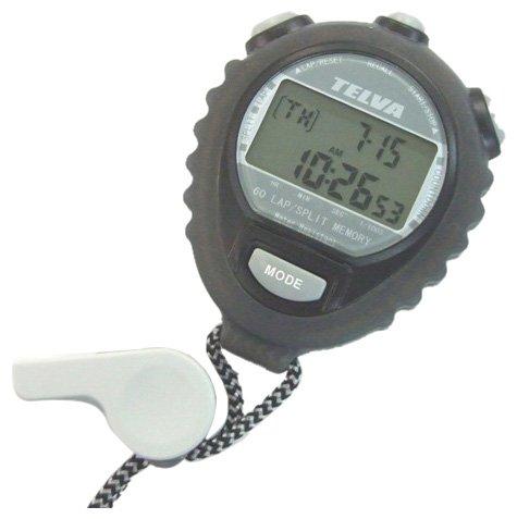 [Crerar] CREPHA digital stopwatch daily waterproof specification countdown measurement 60 LAP memory with black TEV-4026-BK