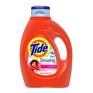 Tide With Touch Of Downy April Fresh Scent Liquid Laundry Detergent 100 Fl Oz (Pack of 4)