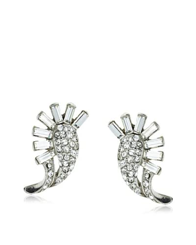 Ben-Amun Small Swarovski Crystal Fan Earrings