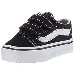 Vans Boys\' Old Skool V - Black - 7.5 Toddler