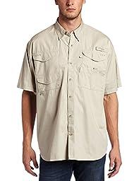 Columbia Men\'s Bonehead Short-Sleeve Work Shirt, Fossil, 3XL