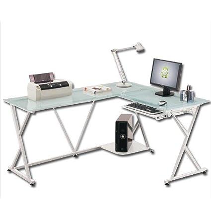 Escritorio angular para portátiles de oficina para dormitorio