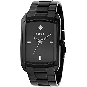 Fossil Analog Black Dial Watch: Fossil: Watches