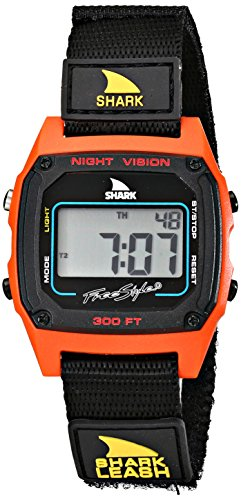 Freestyle Unisex 102244 Shark Fast Strap Retro 80's Digital Black and Red Watch (Strap Watch Shark compare prices)
