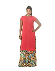 Preety's Pink Unstiched Georgette Dress Material For Women