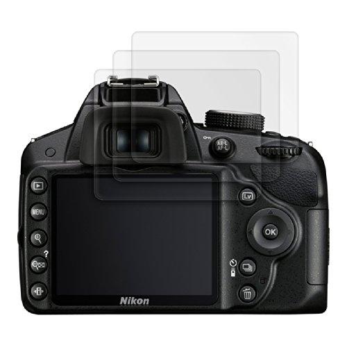 3x kwmobile® Displayschutzfolie MATT und ENTSPIEGELND mit Anti-Fingerabdruckeffekt für Nikon D3200 - PREMIUMQUALITÄT