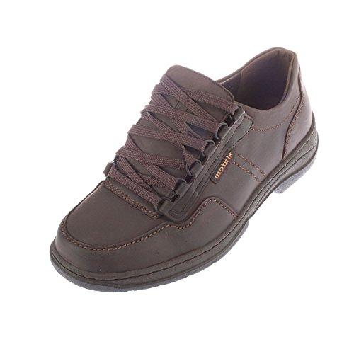 Mephisto Tomaso da uomo in pelle con lacci scarpe stile Sneaker (t1729), marrone (Dark Brown), 43
