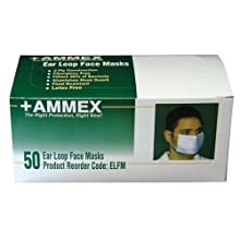 Ammex ELFM Earloop Style Face Mask (Case of 600)