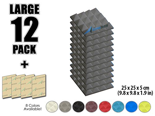 arrowzoom-new-12-pack-of-98-in-x-98-in-x-19-in-soundproofing-insulation-pyramid-acoustic-wall-foam-p