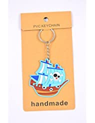 Blue War Ship Key Chain Pack Of 2