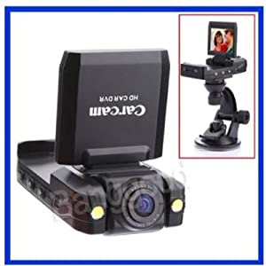 HD Car Dashboard Camera Car Accident DVR with LCD and 140 degree wide angle lense IR NIght Vision by VisionTek