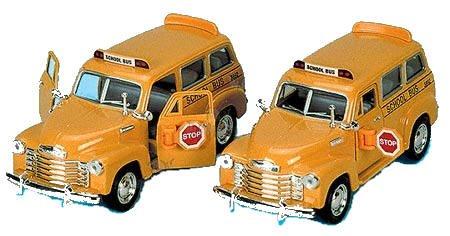 1950 Chevrolet Suburban School Bus 1:36 Scale Die-cast School Bus