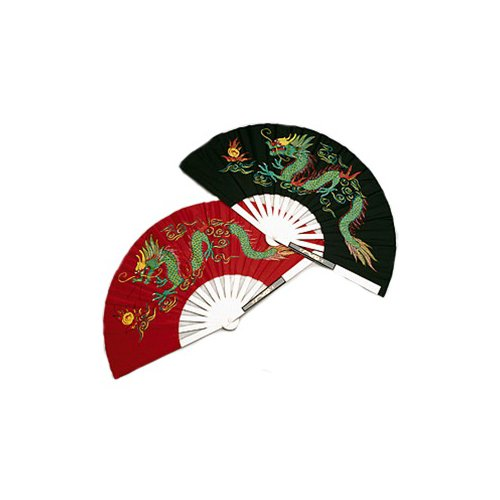 Metal Dragon Chinese Fighting Fan Black (Kung Fu Fighting Fan compare prices)