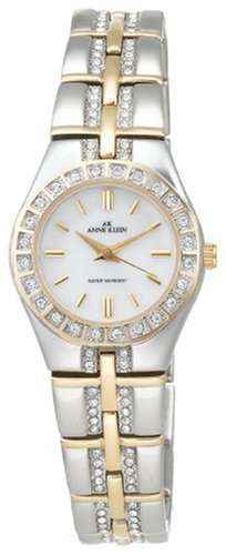 AK Anne Klein Women's 10-7977MPTT Swarovski® Crystal Accented Two-Tone Watch