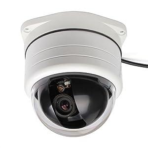 SC2000 700TVL Outdoor PTZ Dome Camera 3X Zoom Sony Super HAD CCD, 360 degree Pan, 90 degree Tilt, White Color