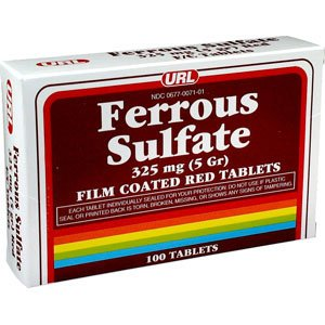 Special Pack Of 5 Ferrous Sulf Tab Red 325Mg Url 100 Tablets