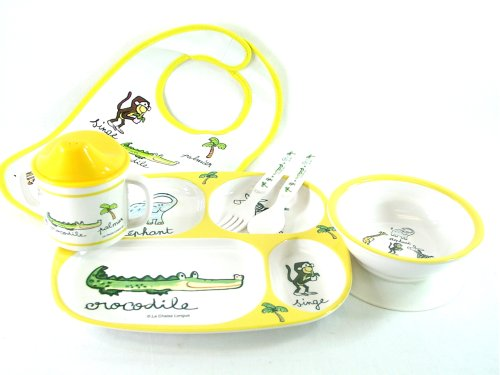 Baby Cie Jungle animals les animaux de la Jungle dinner set: bib, fork, spoon, sippy cup, suction bowl, divided tray, 6 pcs - Buy Baby Cie Jungle animals les animaux de la Jungle dinner set: bib, fork, spoon, sippy cup, suction bowl, divided tray, 6 pcs - Purchase Baby Cie Jungle animals les animaux de la Jungle dinner set: bib, fork, spoon, sippy cup, suction bowl, divided tray, 6 pcs (Baby Cie, Home & Garden, Categories, Kitchen & Dining, Tableware)