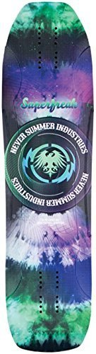 Never Summer Superfreak 2015 Longboard Skateboard Deck With Grip Tape by Never Summer