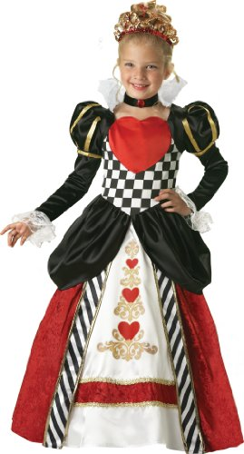 InCharacter Costumes, LLC Girls 2-6X Queen of Hearts Gown Set, Black/Red, Small