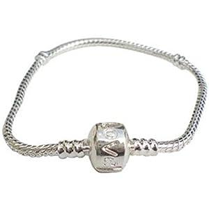 Charm Buddy 17cm Girls Childrens Kids Silver Plated Charm Bracelet Fits Pandora Beads Jewellery