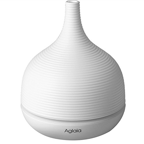 Aglaia 500ml 16Hours Aromatherapy Essential Oil Diffuser with Point Setting, Waterless Auto Shut-off and Color LED Lights Changing