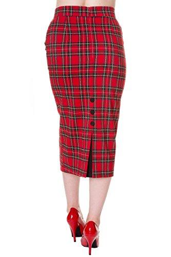 Banned-Plus-Size-Vintage-Pencil-Skirt-Black-Red-or-Tartan