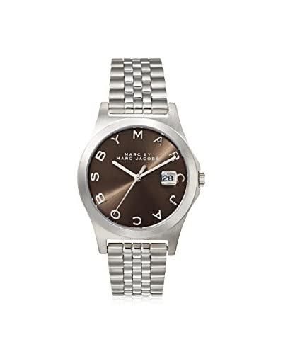 Marc by Marc Jacobs Women's MBM3348 The Slim Silver/Brown Stainless Steel Watch