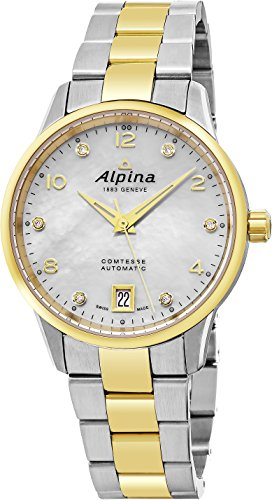 Alpina-Comtesse-Automatic-Ladies-Two-Tone-34mm-Mother-of-Pearl-Diamond-Swiss-Watch-AL-525APWD3C3B