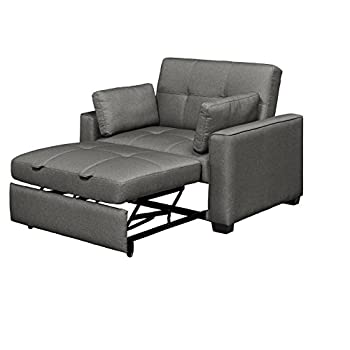 Mechali Products Furniture Serta Sofa Sleeper Convertible into Lounger/Love seat/Bed - Twin & Queen Sizes - Moon Grey Color (Twin)